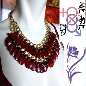 DOUBLE LAYERED Chandelier Statement Necklace ETC!